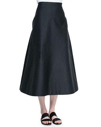 Sprecher Full A-Line Easy Skirt, Black