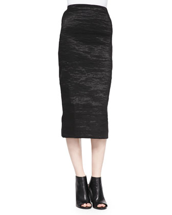 Pull-On Stretch Pencil Skirt