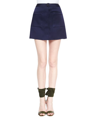 Patch-Pocket A-Line Skirt