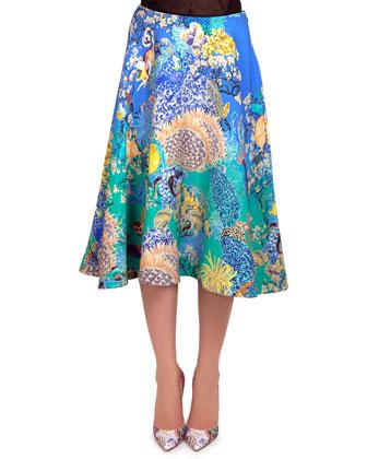 Remora Ocean Babelona Full Skirt, Blue/Green