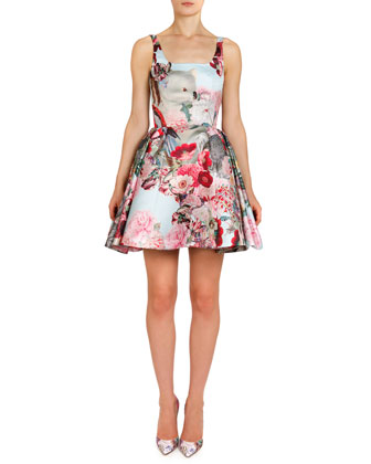 Lobelia Sky Tivolio Tank Dress with Pouf Skirt