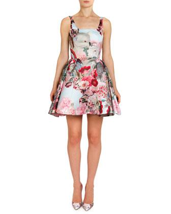 Lobelia Sky Tivolio Tank Dress with Pouf Skirt