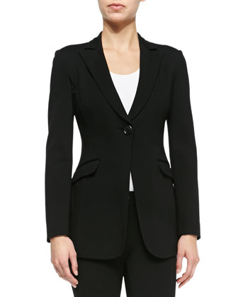 Double-Face Jersey One-Button Jacket