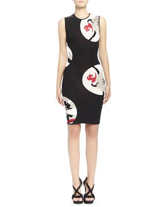 Kansai Floral-Print Inset Body Conscious Dress