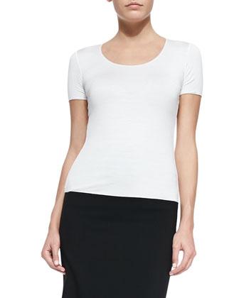 Short-Sleeve Jersey Tee, White