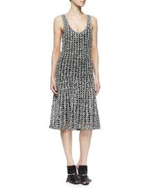 Open Crochet A-Line Dress
