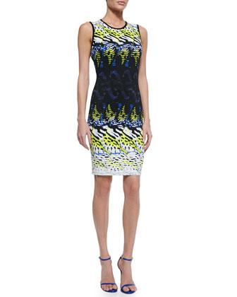 Maroshi Punto Knit Sheath Dress
