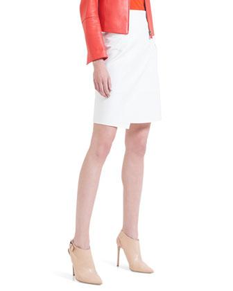 Asymmetric Front-Panel Skirt, Calcite
