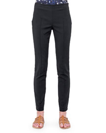 Melissa Slim-Fit Techno Pants, Black
