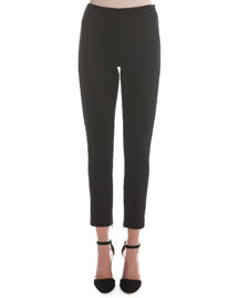 Jersey Zip-Cuff Ankle Pants