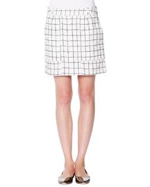 Jigsaw Check A-Line Skirt
