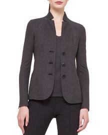 Silk Pique Jersey Reversible Jacket