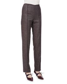 Skinny Melange Wool Pants