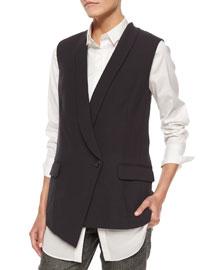 Asymmetric One-Button Vest
