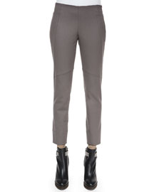 Seamed Zip-Cuff Leggings, Graphite