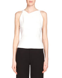 Orca Cutout-Back Top, White