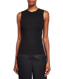 Ball & Chain Spine Sleeveless Sweater, Black