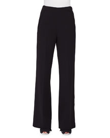 High-Waist Wide-Leg Pants, Black