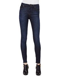 High-Waist Skinny Jeans, Dark Blue