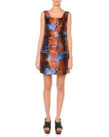 Pimpernel Blossom Jacquard Dress , Raisin
