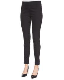 Catherine Side-Zip Pants, Black