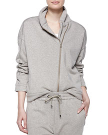 Long-Sleeve Spa Jacket, Bran