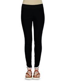 Tabatha Contrast-Stripe Pants, Black