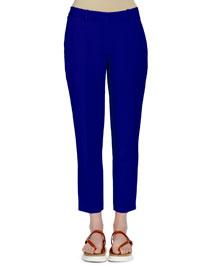 Ankle-Grazer Classic Pants, Blue Bird