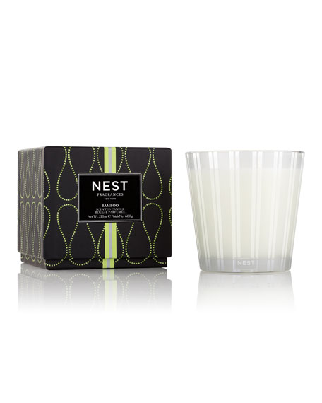 3 WICK BAMBOO CANDLE