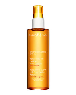 Clarins Sunscreen Spray Oil-Free Lotion Progressive Tanning SPF 15
