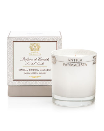 Round Vanilla Mandarin Candle, 9 oz.