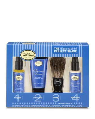 4 Elements of the Perfect Shave Starter Kit, Lavender