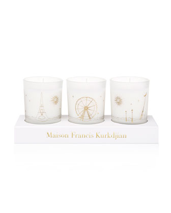 Three Scented Candles Set