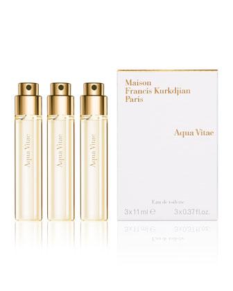 Aqua Vitae Natural Eau de Toilette Spray Refills, 3, 0.37 oz.