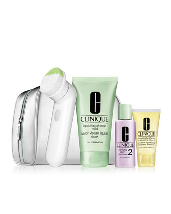 LIMITED EDITION Cleansing by Clinique Skin Type I/II (Sonic Set A)