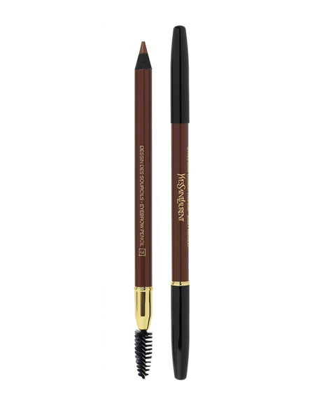SAINT LAURENT Dessin Des Sourcils - Eyebrow Pencil 2 Dark Brown 0.04 Oz/ 1.2 G