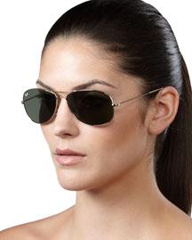 Aviator Sunglasses, Gold
