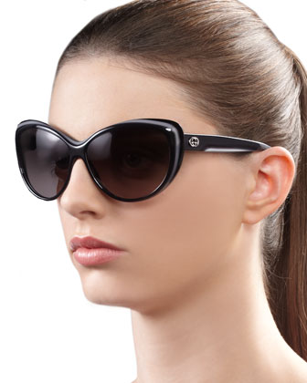 Round Cat Eye Sunglasses, Gray