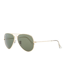 Ray-Ban Original Aviator Polarized Sunglasses, Green
