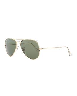 Ray-Ban Original Aviator Polarized Sunglasses, Green