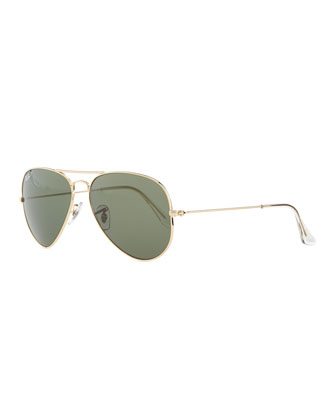 Original Aviator Polarized Sunglasses, Green
