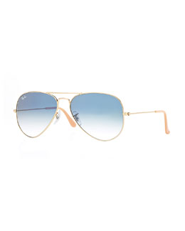 Ray-Ban Original Aviator Sunglasses, Golden/Green
