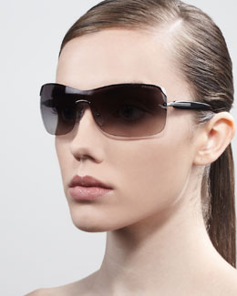 Prada Timeless Shield Sunglasses, Gold