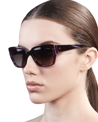 Screwpin Modified Cat-Eye Sunglasses
