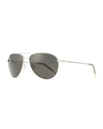 Benedict Basic Aviators, Silver/Gray