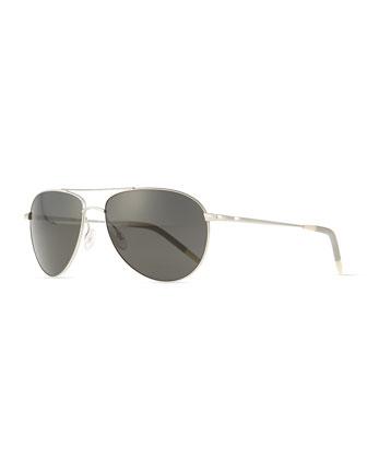 Benedict Basic Aviators, Silver/Gray