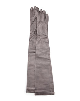Portolano Opera-Length Leather Gloves, Tan