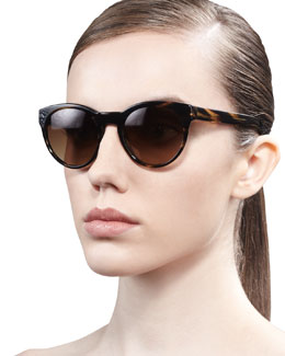 Oliver Peoples Alivia Cat-Eye Sunglasses, Brown