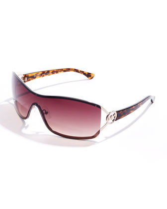 Verona Rimless Shield Sunglasses