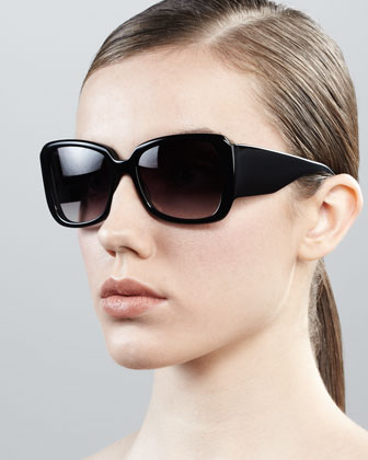 Vreeland Square Sunglasses, Black